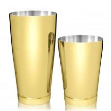 Coctelera Boston Luxury Tin y Mini 28/18oz Dorado