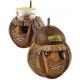 Soporte Para Vasos Coco Natural En Forma De Pirata