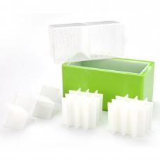 Molde Hielo Cristalino o Transparente Cubos