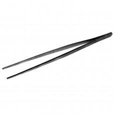 Pinzas Garnish Rectas 25 cms Negro